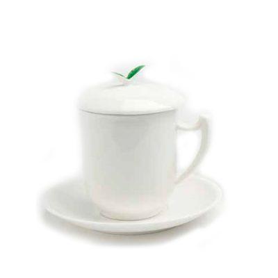 mug infusor blanca